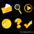 Another Free Gold Vector Icon Set (Part II)