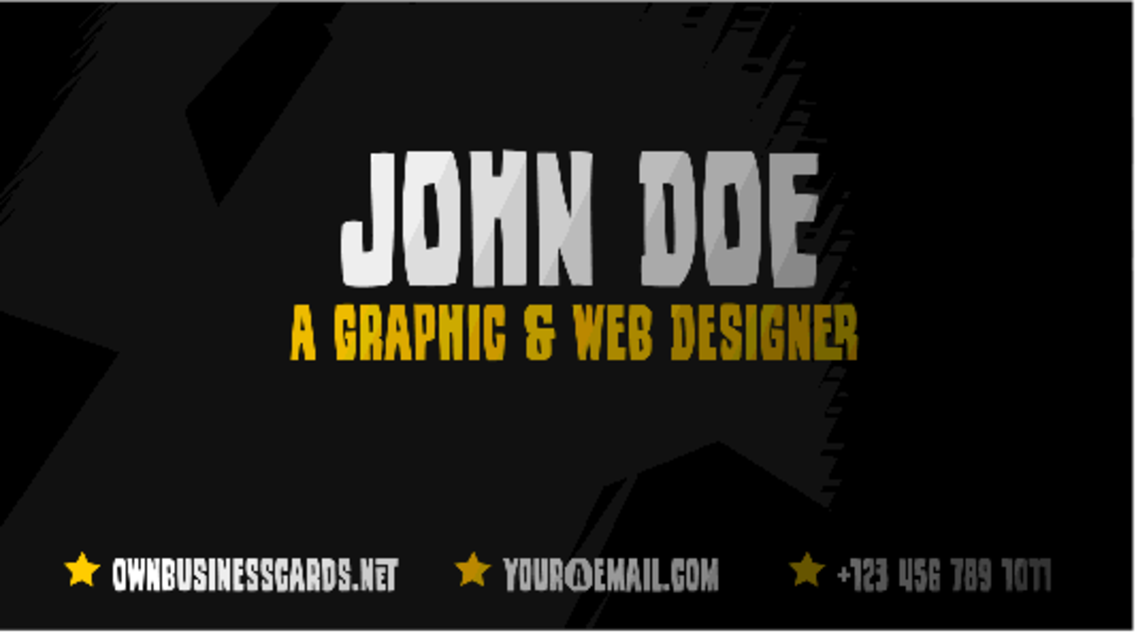 Yellow&Black Business Card Template
