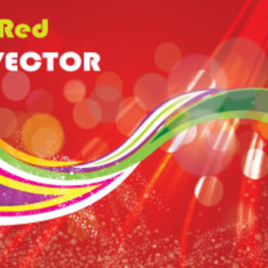 The Red Dotted Art Abstract Vector