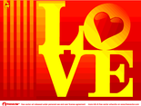 Love Card Vector Design