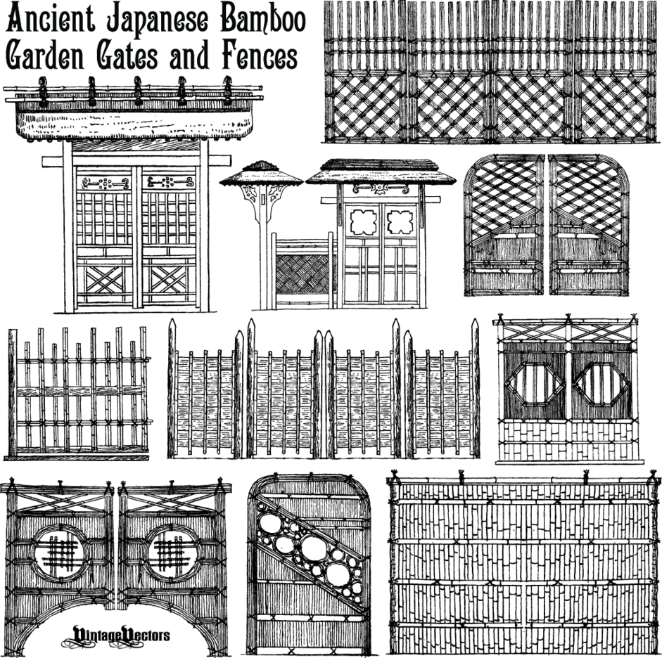 Japanese Bamboo Fences And Gates