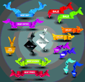 Origami Badges
