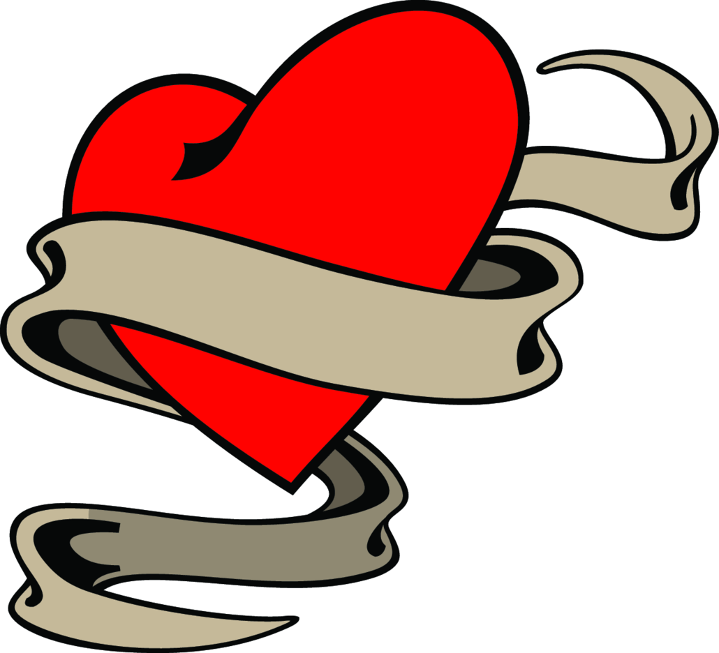 Heart And Banner Vector