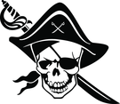 One-eyed Pirate Vector