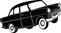 Retro Car Model Vector