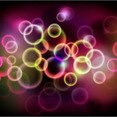 Colored Glowing Light Vector Background