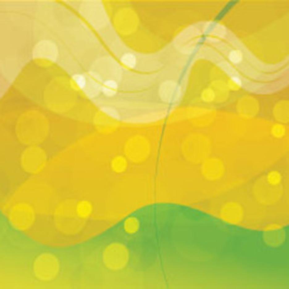 Flowed Orange & Green Abstract Vector