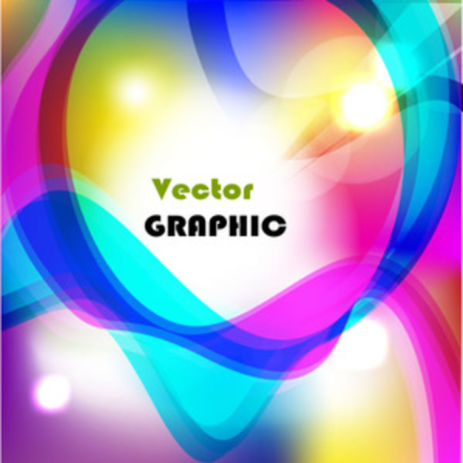 Abstract Colored Lighting Lines Vector Background