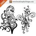 Hand Drawn Floral Elements Free Vector Illustration