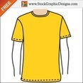 Apparel Men's Blank T-shirt Template Free Vector