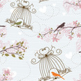 Free Vector Birds Seamless Pattern