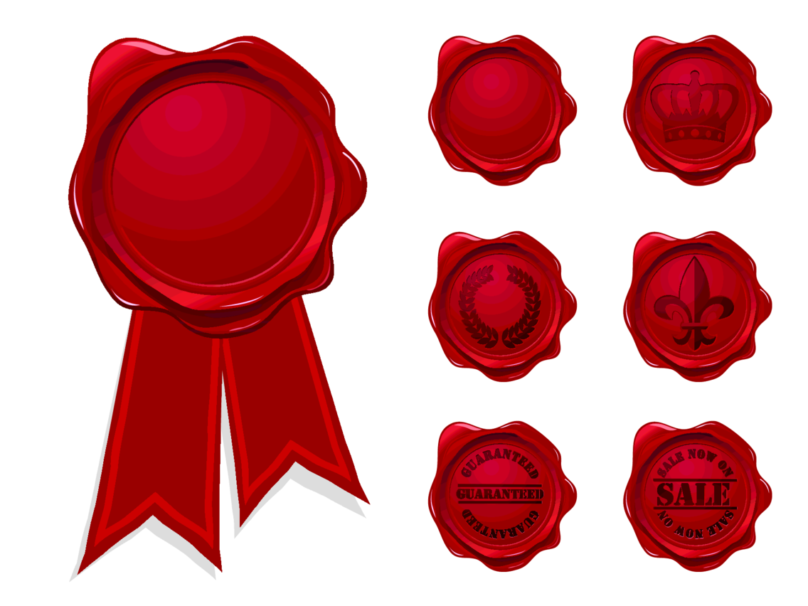 Red Vector Wax Seals