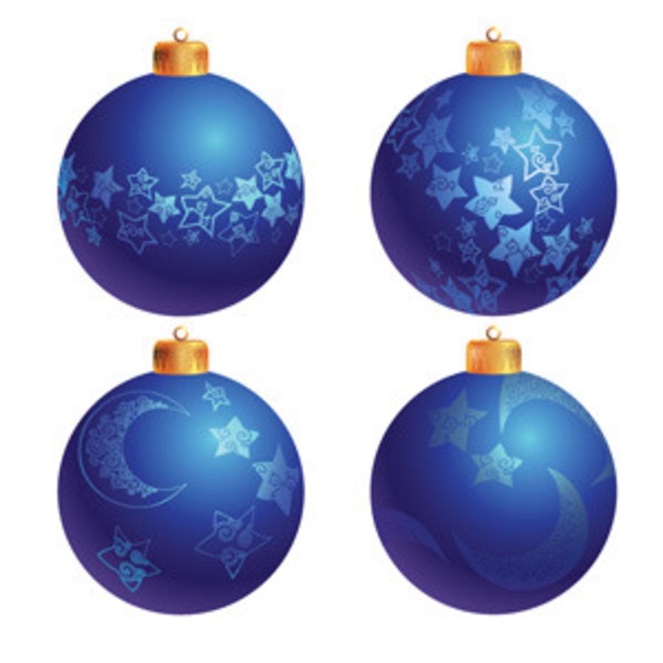 Blue Christmas Tree Decoration Balls