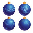 Blue Christmas Tree Decoration Balls