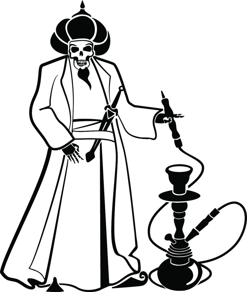 Man With Hookah Vector