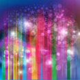 Abstract Glowing Rainbow Free Vector