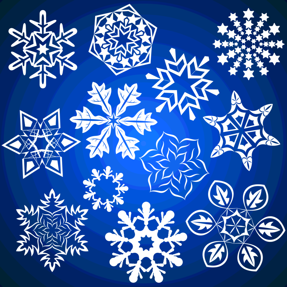 Winter Vector Snowflakes