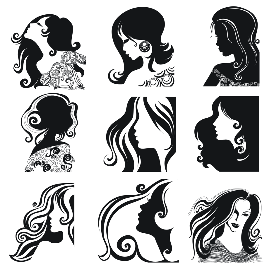 Women Face Vectors