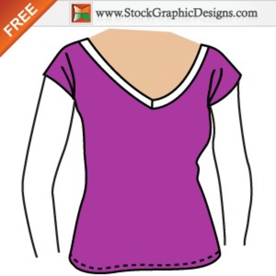 Girls Free Vector T-shirt Template Design