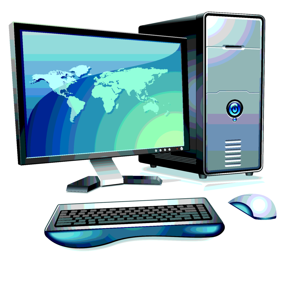 Computer With LCD Monitor