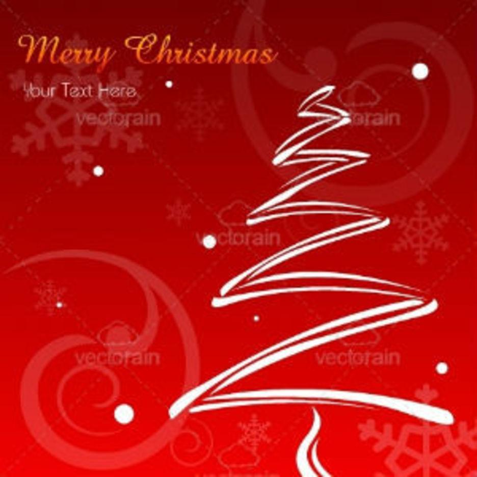 Merry Christmas Card With X-Mas Tree