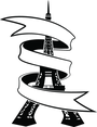 Eiffel Tower With Banner Vector