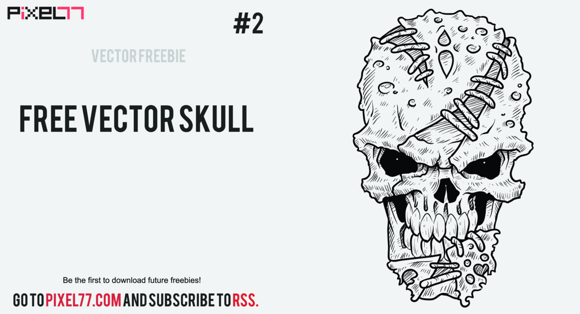 Weekly Freebie #2: Vector Skull & How It's Made