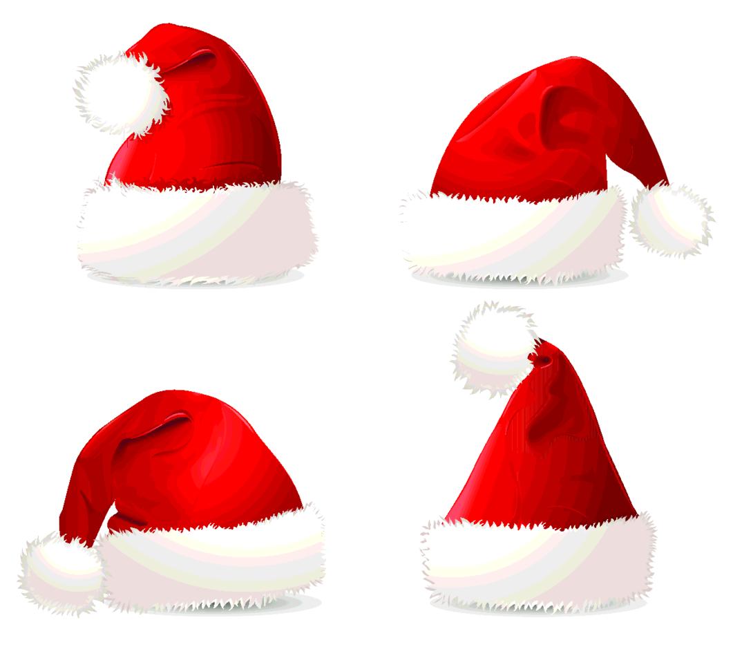 Four Christmas Hats