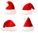 Four Christmas Hats