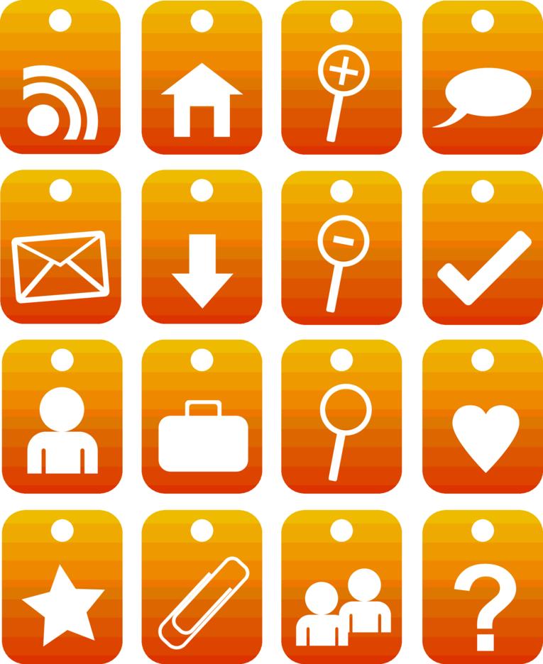 Ornage Web Icons