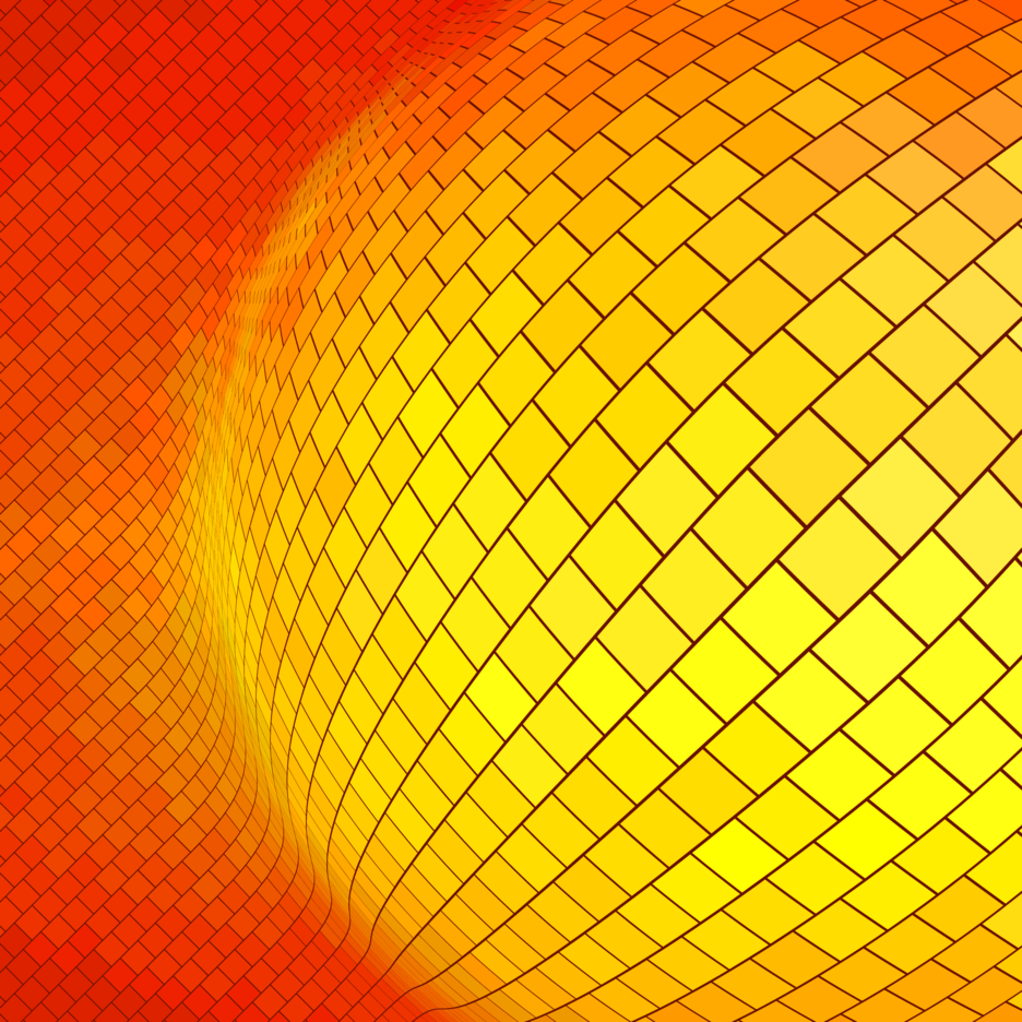 Orange Background With Many Squares
