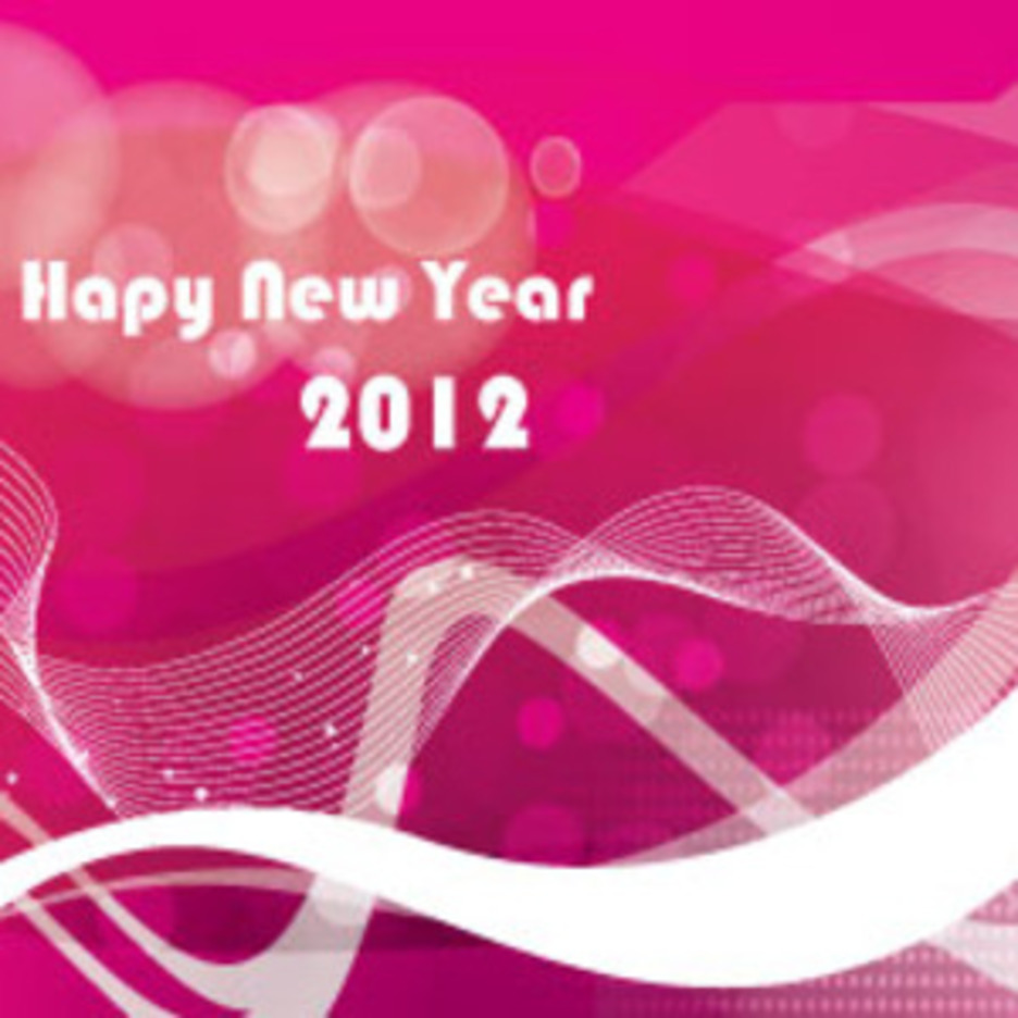 Red Pink Abstract Hapy New Year
