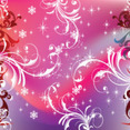 Swirly Purpled Stars Vector New Year Art