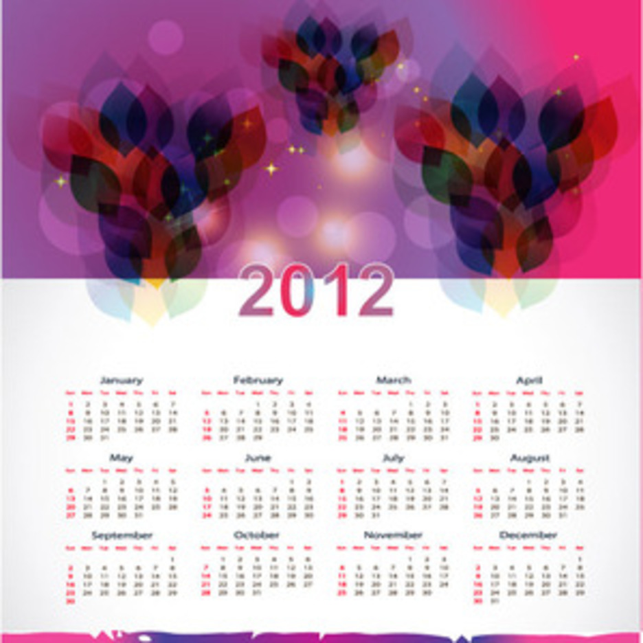 New Year 2012 Calendar Vector Graphic