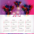 New Year 2012 Calendar Vector Graphic