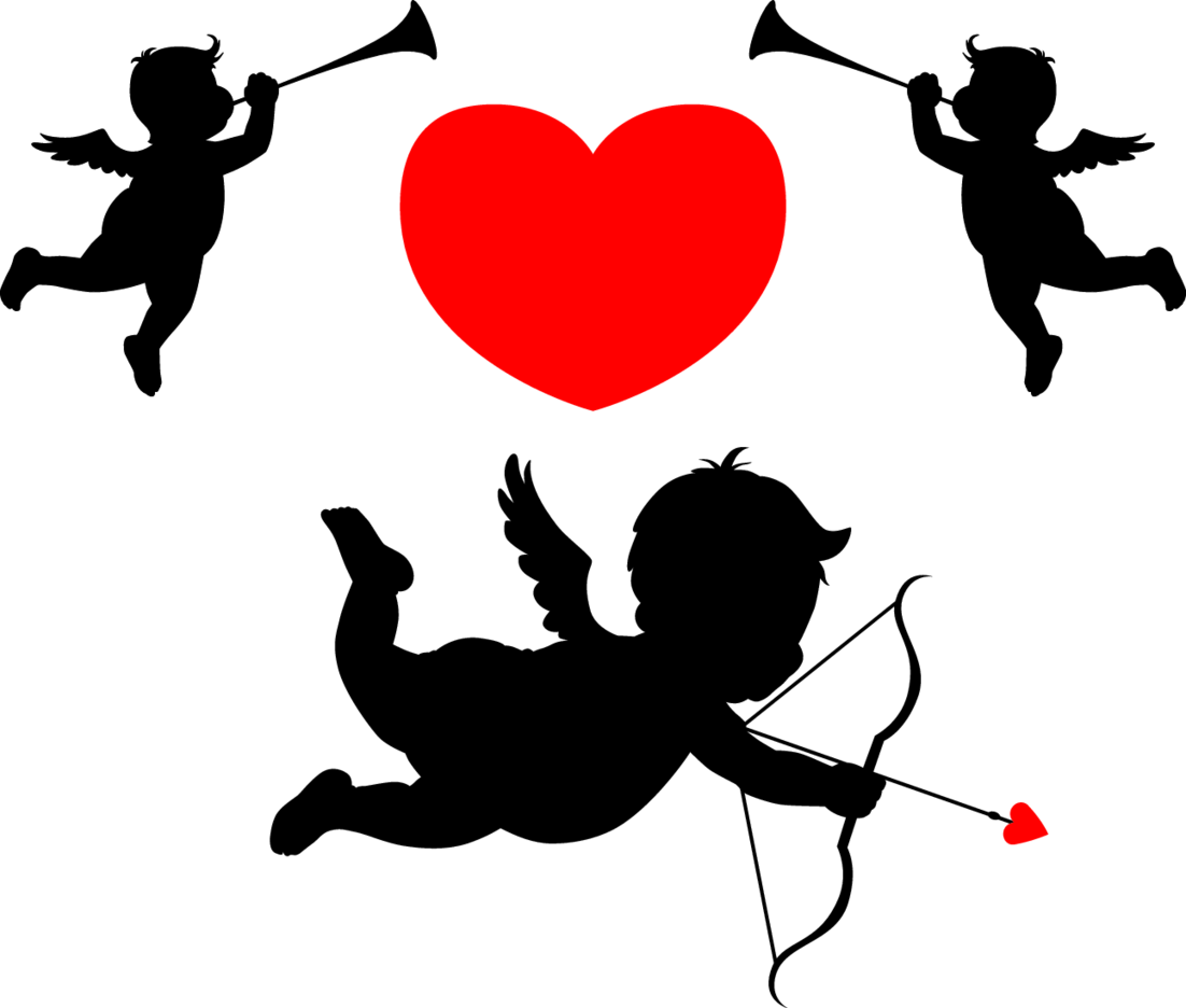 Cupid And Flying Angels