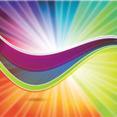 Colored Abstract Rainbow Free Vector