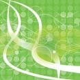 Green Empty Circles Abstract Vector