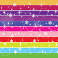 Multi Lined Colored Snow Vector