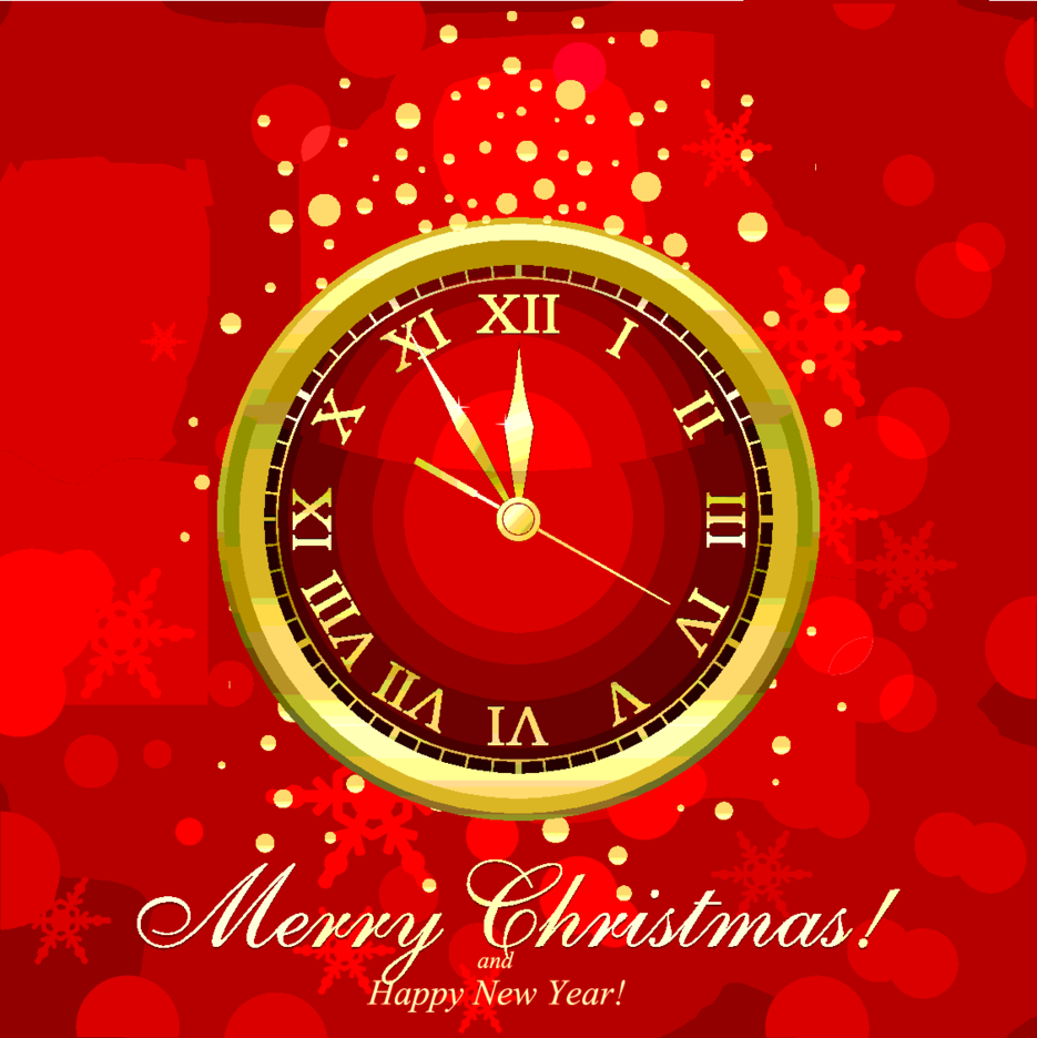 New Year Time Clock