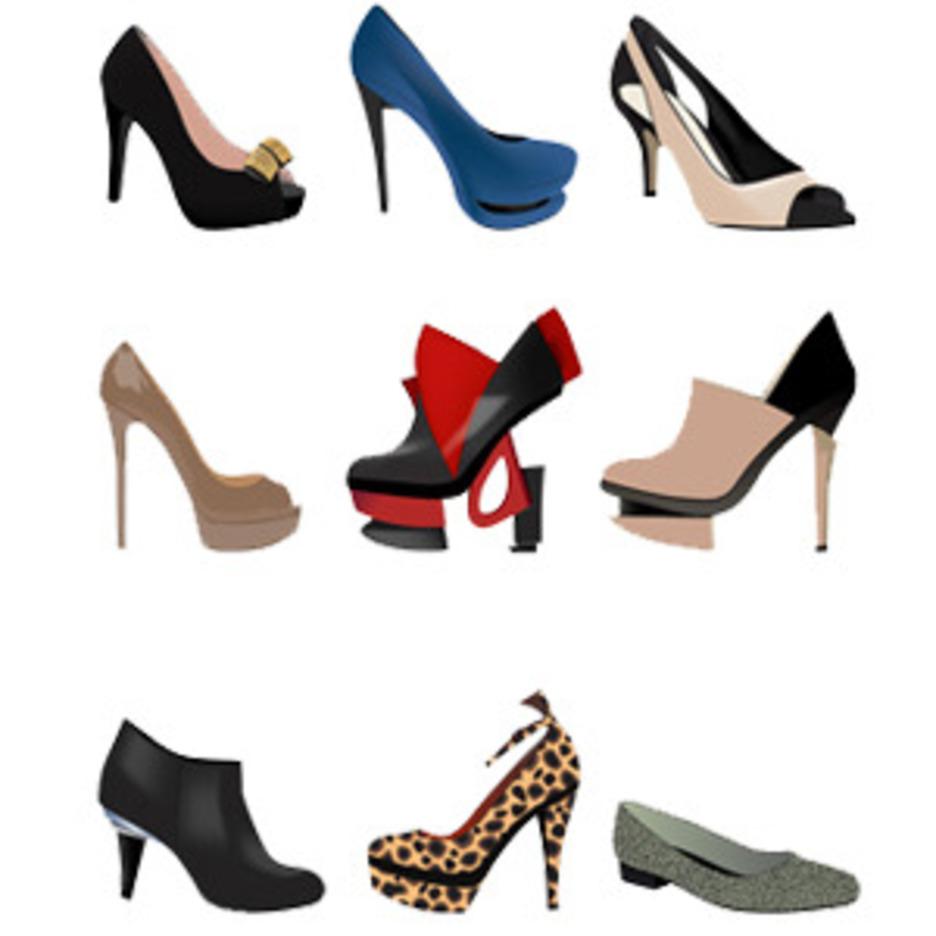 Stylish Women Shoes-Free Vector