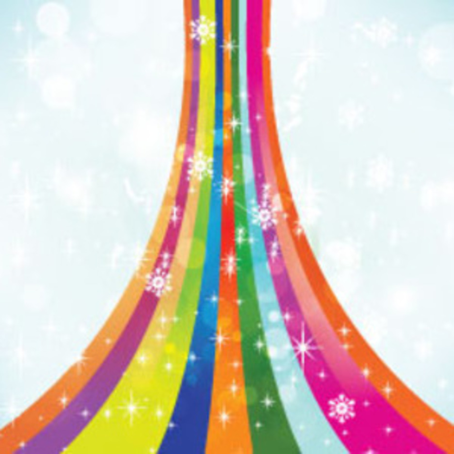 Colorful Snowy Vector Background