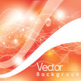 Great Orange Shinning Abstract Vector