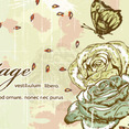 Vectorious Free Vintage Roses With Butterflies