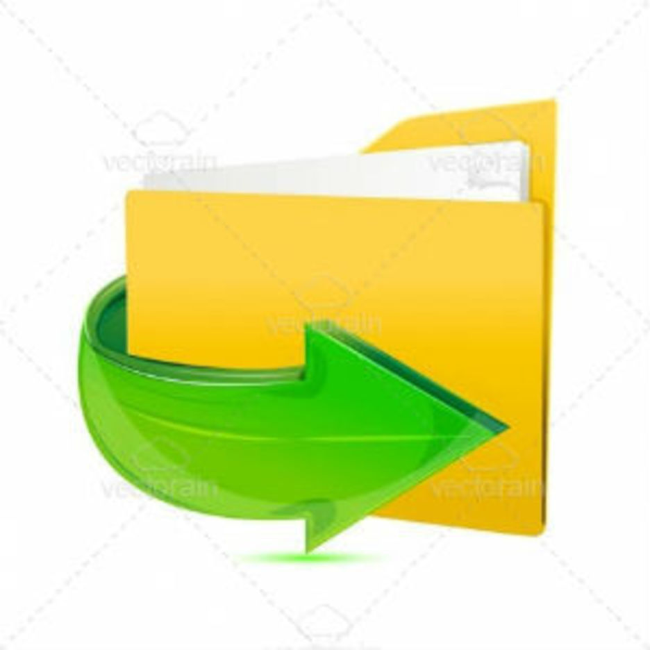 Folder Icon With Glossy Arrow