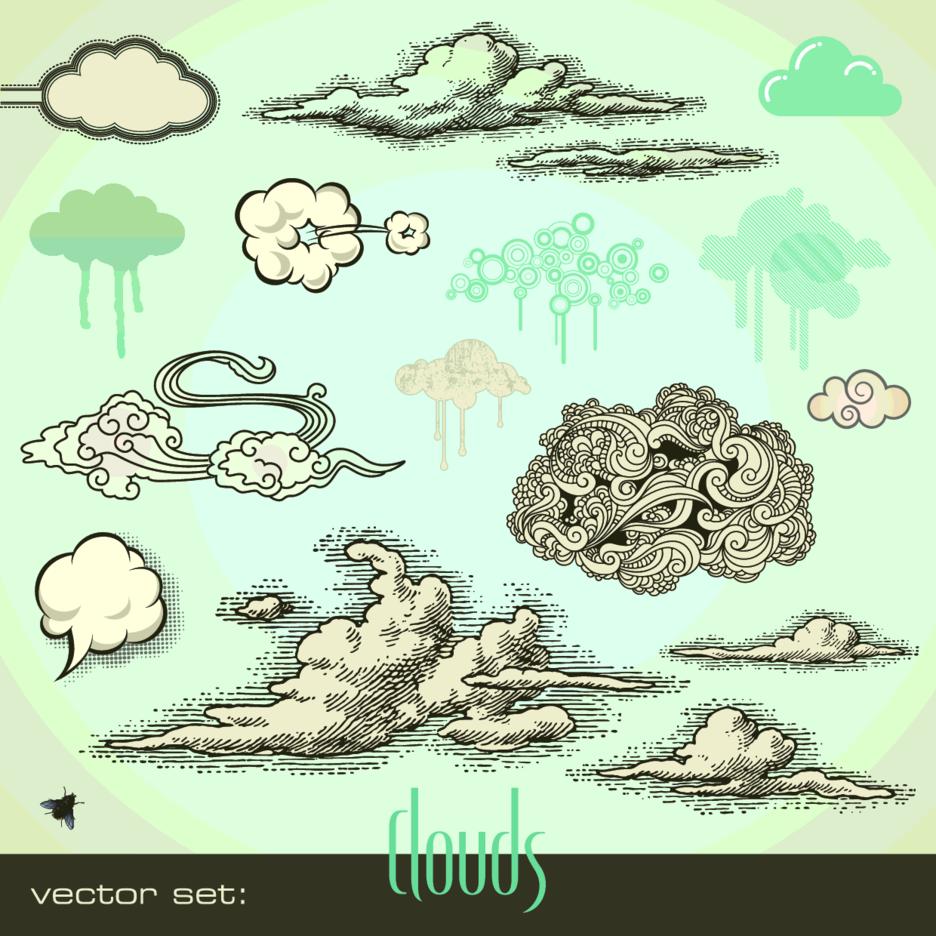 Cloud Vectors Collection