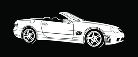 Mercedes Benz Car Model Vector