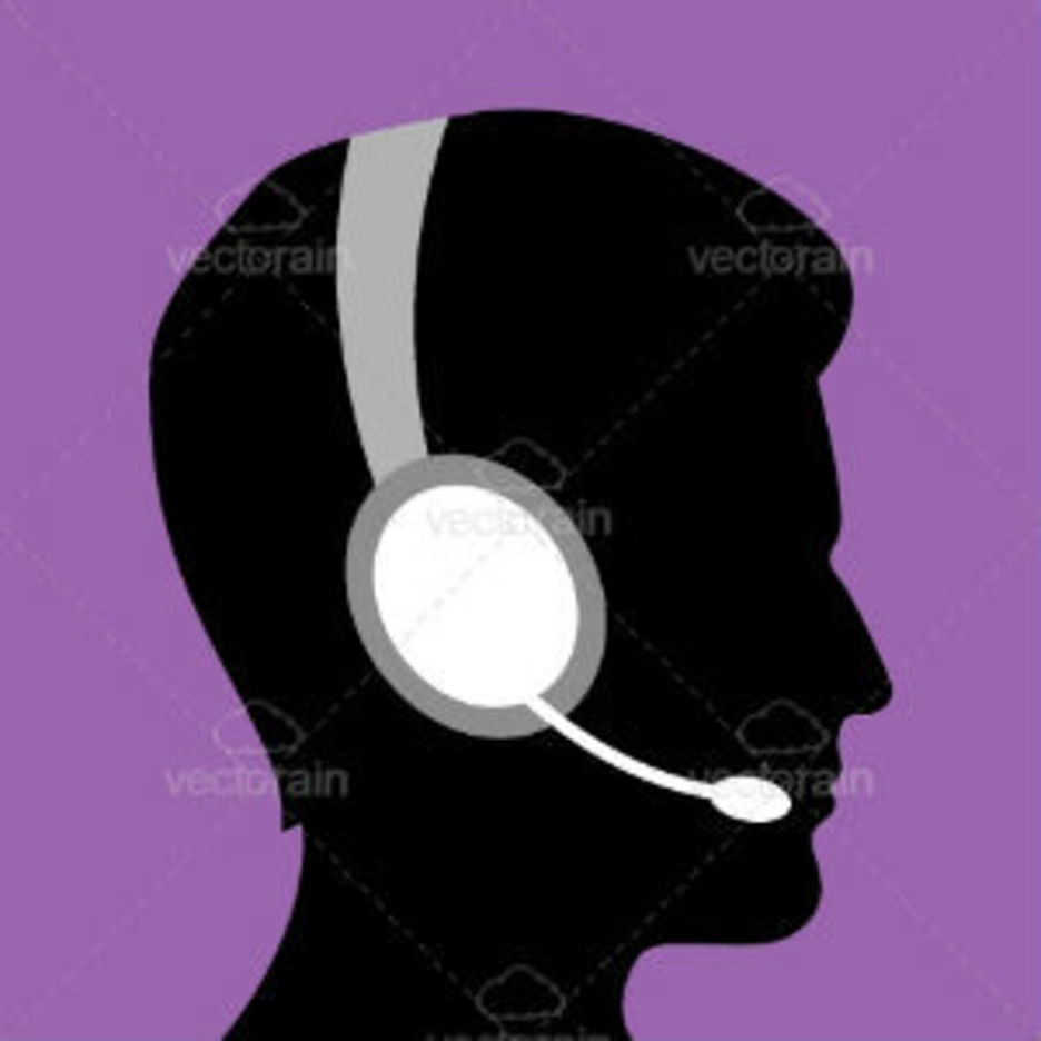 Silhouette Of Man With Headsets