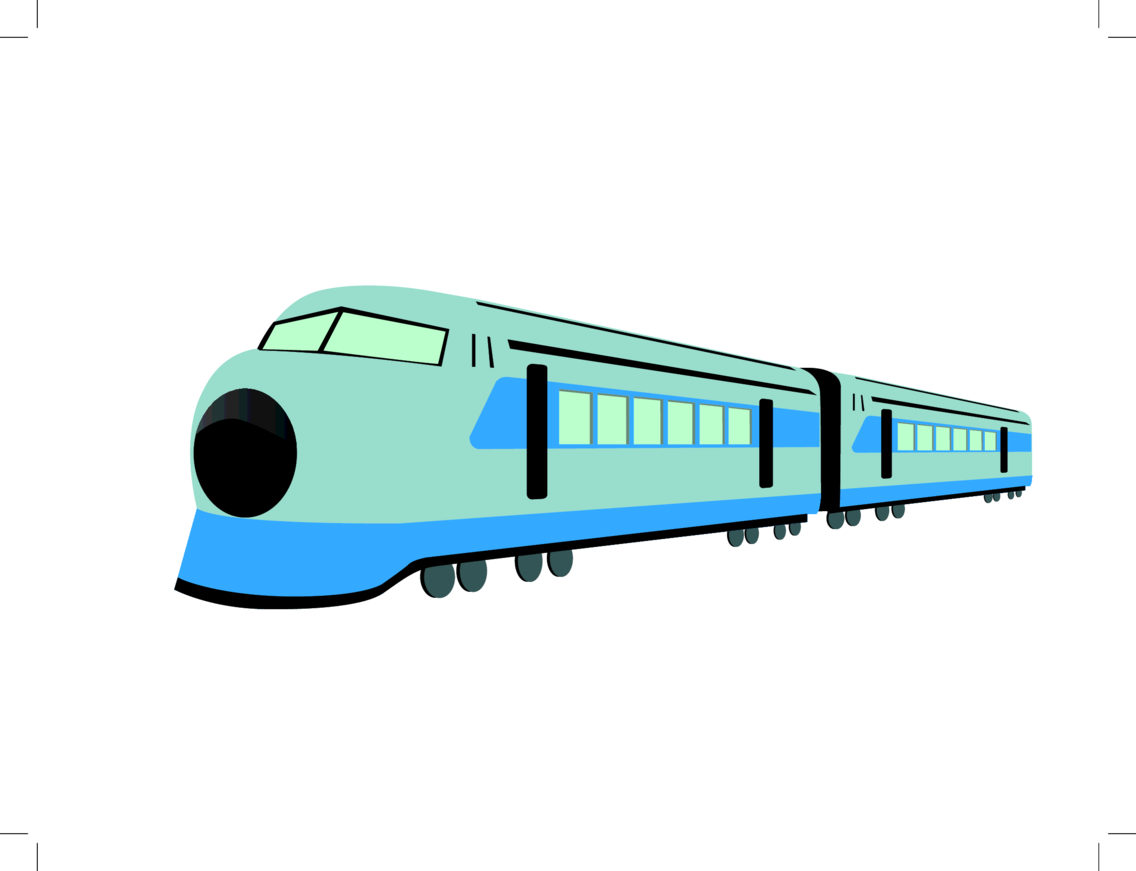 High Speed Train Free Vector Illustration.
