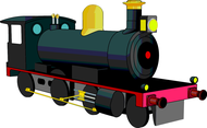 Free Steam Locomotive Vector